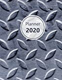 Planner 2020: Monthly and Weekly Planner. Week on 1 page. Start your week with weekly Focus, Tasks, To-Dos. Monday start week. 11.0' x 8.5' (Letter size) (Metal plate, close-up. Soft matte cover).