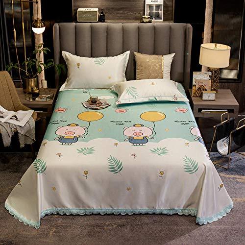 KIKIGO Conditioning Soft Mat,Summer Ice Silk Mat,Lace lace air conditioning mat sheet, ice silk mat three-piece-baby_200*245
