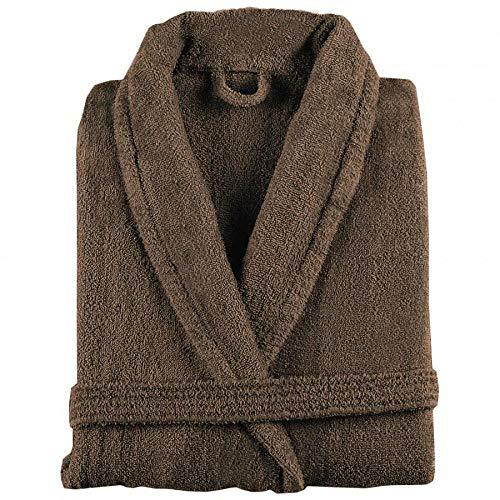 Peignoir en pur coton avec col châle - New Plus L Talpa