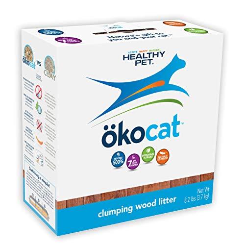 ökocat Natural Wood Cat Litter, 8.2-Pound, Clumping