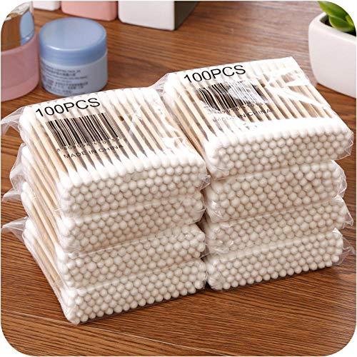 800pcs coton-tige à double extrémité, coton-tige, coton-tige en bois, coton-tige jetable, utilisé pour le nettoyage du nez et des oreilles