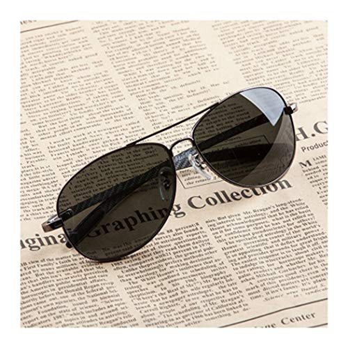 HONGNA Sonnenbrillen Free Soldiers Storm Glasses Herren Polarized Mirror Driver Fahren Sonnenbrillen Piloten Fliegende Spiegel Angeln Gläser (Color : Black)