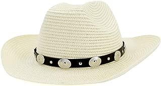 Sun Hat for men and women Straw Western Cowboy Hat Fedora Hat Hat Male Outdoor Beach Hat Sunscreen Silver Decorative Visor Women Big Hat Sunbonnet