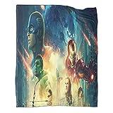 Manta de viaje ligera de Avengers Movie Superhero de edición limitada, 100 x 130 cm, manta de alta gama para regalo utilizada para varias fiestas en el sofá cama.