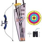 Tosbess Arco y Flechas Niños Set Arco – Diana de Tiro con Arco Equipos de Juguete para Niños Juego Regalo de Entrenamiento con Flechas y Objetivo Caras,90 x 16 x 5 cm