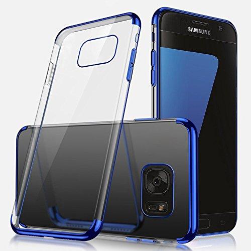 Herbests Coque Etui Housse pour Galaxy S7 Coque Silicone Étui Housse avec Motif,Ultra Mince Crystal Clear Transparent Silicone Soft TPU Étui Coque