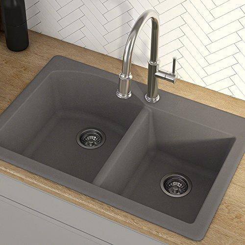 Kraus Forteza Granite Kitchen Sink, 33-Inch, KGD-50GREY