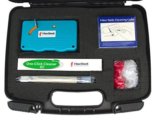 FiberShack - Fiber Optic Cleaning Kit - Complete 7 in 1 Fiber Cleaning...
