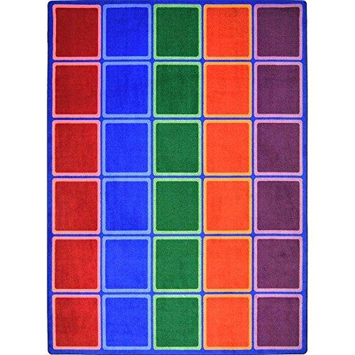 "Joy Carpets Kid Essentials Early Childhood Blocks Abound Rug, Primary, 7'8"" x 10'9"""