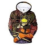 SHNW Naruto - Sudadera con capucha Akatsuki Sasuke Kakashi con capucha para niños y hombres