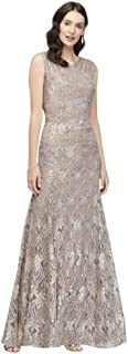 Sequin Lace Mermaid Mother of Bride/Groom Dress with Illusion Detail Style 3198