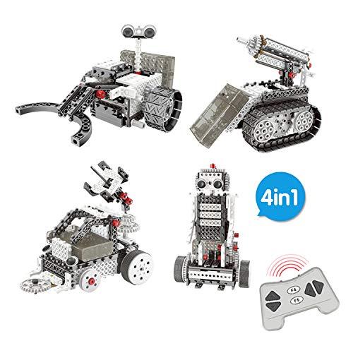 RcTecnic Robótica Educativa para Niños   LunarBOTS Juguete teledirigido para Montar 4 en 1   254 Piezas