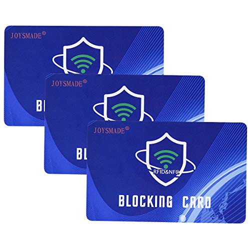 3Pcs RFID Blocking Card , Protection Entire Wallet and Purse Shield, Contactless NFC Bank Debit...