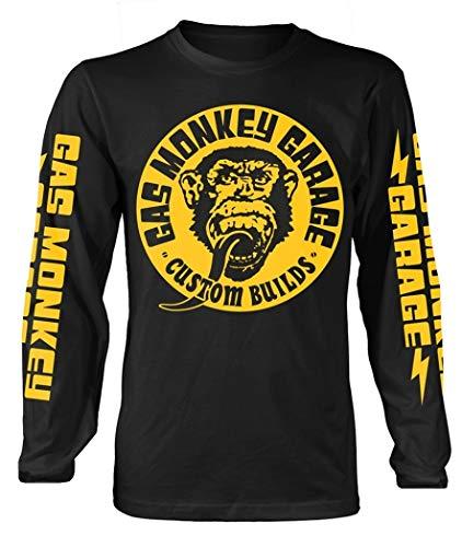 Gas Monkey Garage 'Big Yellow Logo' (Black) Long Sleeve Shirt (Small)