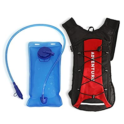 Hydration Pack Backpack 2L 70oz Water Bladder - Lightweight Bag With an Extra Storage Pocket - Perfect for Outdoor Activities Hiking, Camping, and Sports - Suitable for Men and Women - Easy To Use.