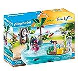 PLAYMOBIL Family Fun 70610 Spaßbecken mit Wasserspritze, Zum Bespielen mit Wasser, Ab 4 Jahren