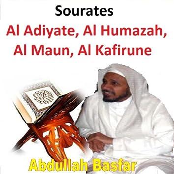 Sourates Al Adiyate, Al Humazah, Al Maun, Al Kafirune (Quran - Coran - Islam)