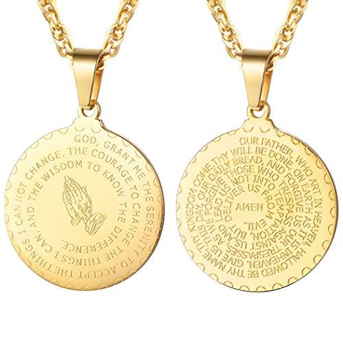 PROSTEEL Chapado en Oro Collar para Hombre de Acero Inoxidable Cadena Serpiente Cadena Trigo Dorado Tono Oro