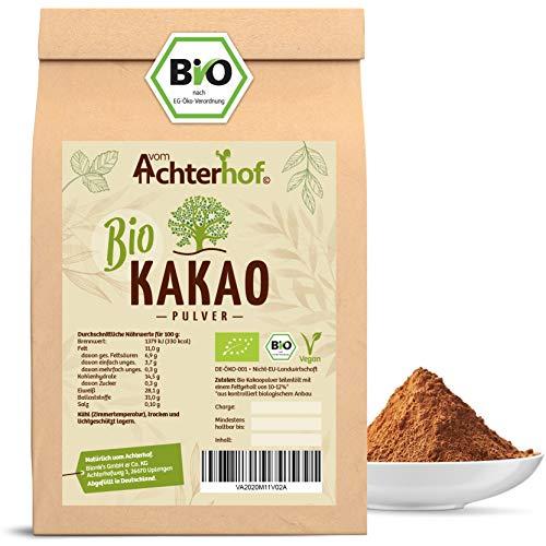 Kakao Pulver Bio (500g) Kakaopulver Rohkost stark entölt (11% Fett) zuckerfrei