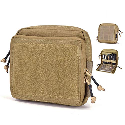 REEBOW GEAR Tactical Admin Pouch EDC Molle Military Bag Organizer Tan