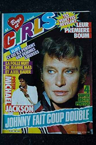 BOYS et GIRLS n° 248 SEPTEMBRE 1984 COVER JOHNNY HALLYDAY POSTER MICHAEL JACKSON JEANNE MAS AXEL BAUER