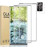 [2+1] for Samsung Galaxy Note 20 Ultra 5G Tempered Glass Screen Protector, with Camera Lens Protector [Fingerprint Unlock] [Bubble Free] 3D Curved HD Clear Glass Film Galaxy Note 20 Ultra (6.9 Inch)