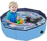 Oberhoffe Hunde Planschbecken,Doggy Pool Faltbarer Badewanne Pool,Haustier-Duschbecken mit,Hundeplanschbecken mit Ablassventil,Haustiere Badewanne,Umweltfreundlichem PVC rutschfest