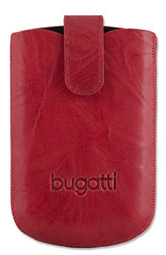 Bugatti Genuine Funda De Piel Vertical Chilli Unique/Cubierta/Bolsa Retail Pack...
