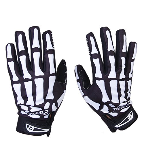 Voll Finger warmen Radsport Handschuhe (BLACK+WHITE, L) - 2
