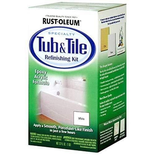 Rust-Oleum 7860519 Tub And Tile Refinishing 2-Part Kit, White, 32 Fl...