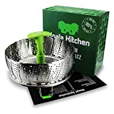 Edelstahl Dampfgarer Einsatz für Baby-Nahrung geeignet von Koala Kitchen - Faltbarer Dämpfeinsatz für Kochtöpfe - Kartoffeldämpfer