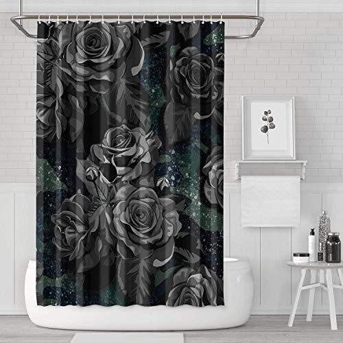 YUYUTE Cortinas de baño Decoración de bañoBath Curtain Camouflage F