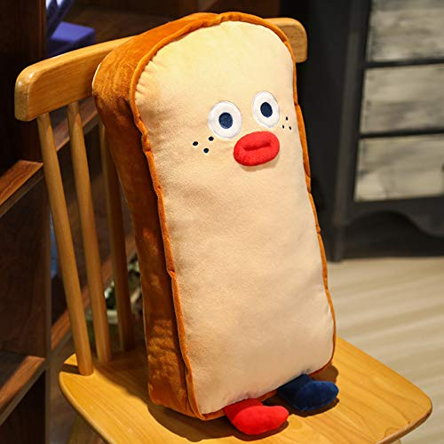 Luntus 65cm Simulated 3D Toast Plush Pillow Cushion Soft Stuffed Backrest Toys Snack Bread Shape For Children Home Decor Gift