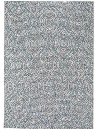Benuta In- & Outdoor-Teppich Cleo Beige/Türkis 240x340 cm - Outdoor-Teppich für Balkon & Garten