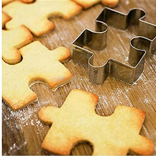 PiniceCore Nueva Forma de Puzzle cuttters decoración de la Torta Cortador de Galletas de Pasta de azúcar Galletas de Herramientas de Acero Inoxidable biscoito Moldes párr Galletas