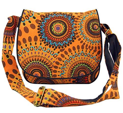 Guru-Shop Schultertasche, Hippie Tasche, Goa Tasche - Orange, Herren/Damen, Baumwolle, Size:One Size, 22x23x5 cm, Alternative Umhängetasche, Handtasche aus Stoff