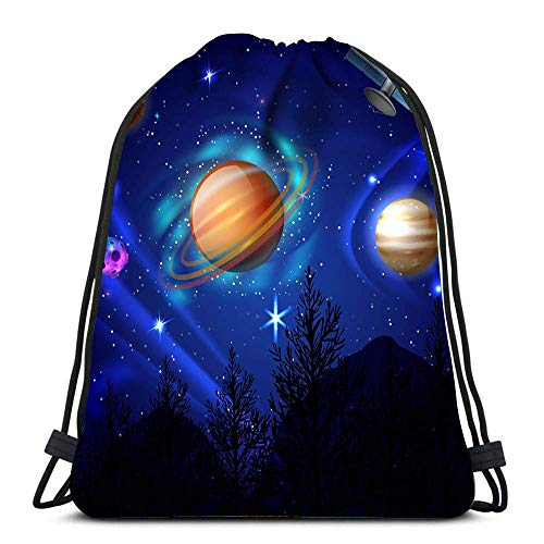 XCNGG La Mochila con cordón empaqueta el Cielo Nocturno Composición del Cosmos Deportes Viajes Yoga Gymsack