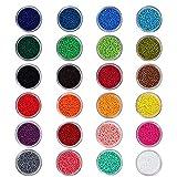 PandaHall Elite Cuentas de Colores Perlas de Vidrio Perlas de Mini Cuentas para Hacer Joyas de...