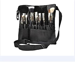 Professional 22 Pockets PU Leather Cosmetic Makeup Brush Bag Case Holder with Belt Strap, Brushes Not Included