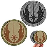 MOTAIN Tactical Movie Galactic Republic Knight Patch Hook and Loop Fastener Alliance Knight Military Applique Emblem Patch -3.15'(2 Pack)