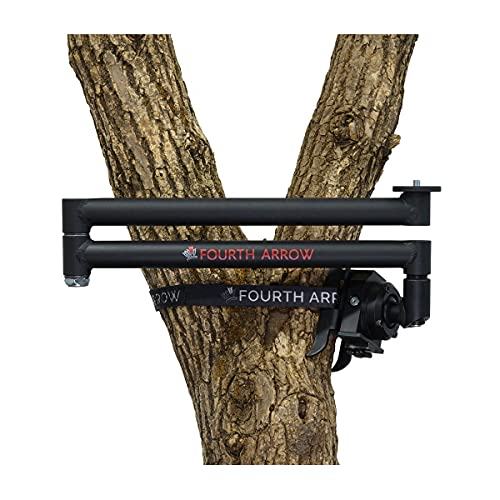 Fourth Arrow Stiff Arm Easy Use Frustration Free Light Weight Aluminum Construction Wide Range of Motion Stiff Arm Camera Arm for Filming Hunts