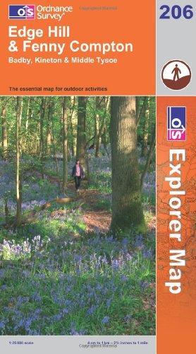 OS Explorer map 206 : Edge Hill & Fenny Compton