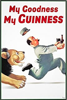 Guinness Beer My Goodness My Guinness by Gilroy 36x24 Advertising Art Print Poster Irish Stout Brew