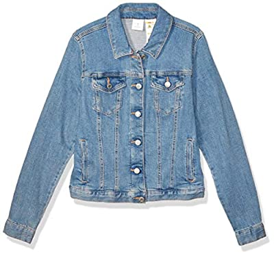 Tommy Hilfiger Women's Adaptive Jean Jacket with Magnetic Buttons, Light Wash Urope, XS by Tommy Hilfiger