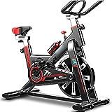 YLJYJ Bicicleta estática, Bicicleta de Ciclismo de Interior estacionaria, Cojín de Asiento cómodo, Manillar de Agarre múltiple, Volante Pesado, Máquina de Gimnasio para Entrenamiento en casa