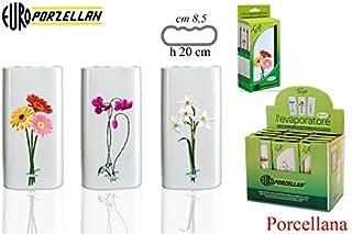 Chieppa Euro-Porzellan Evaporator Top 10 Floral Design Humidificador con Gancho, Porcelana, Blanco, Talla Única