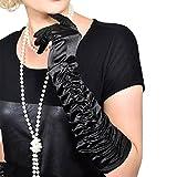 GOODS+GADGETS Charleston 20er Jahre Handschuhe Lange Retro Handschuhe für Burlesque Kostüm Kleid Outfit Accessoire (Handschuhe) -