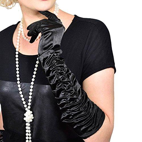 GOODS+GADGETS Charleston 20er Jahre Handschuhe Lange Retro Handschuhe für Burlesque Kostüm Kleid Outfit Accessoire