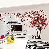 Alicemall 3D Adesivi Murali Wall Sticker Adesivi da Parete in Acrilico Foresta Rossa...