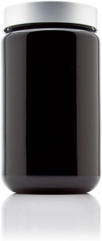 Infinity Jars Silver Collection 400 ml (13.5 fl oz) Tall Black U